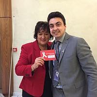 PES women president Zita Gurmai with Momchil Nekov